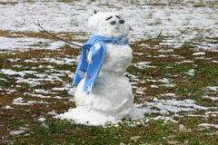 Snowman. On a winter Day royalty free stock photos