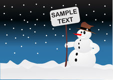 Snowman. Vector illustration background, wallpaper Royalty Free Stock Photography