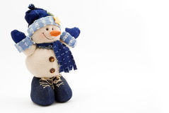 Snowman. Beauty snowman on the white background Royalty Free Stock Photography