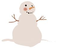 Snowman. Illustration of a frosty snowman Royalty Free Stock Photos