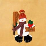 Snowman. Decorative frosty the snowman let it snow royalty free stock photos
