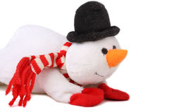 Snowman. Cute snowman isolated on white background Stock Image
