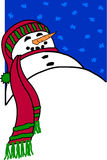 snowman 库存例证