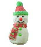 Snowman. Sugar coated candy snowman isolated on white Stock Photography