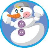 Snowman. Winter snow holiday men christmas vector illustration