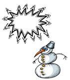 Snowman-100 lizenzfreie abbildung