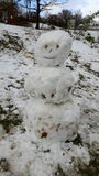 Snowman. Activities in winter Royalty Free Stock Photo