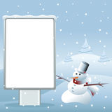 Snowman advertising Royalty Free Stock Images