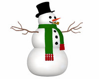Snowman Angled View Stock Images