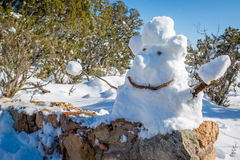 Snowman in Arizona Mountians. Stock Image