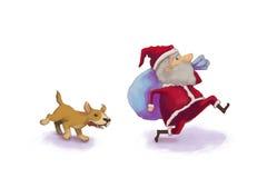 Run !! Santa. Santa claus is coming to town Royalty Free Stock Photo
