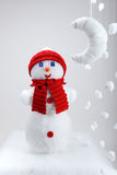 The snowman, artificial moon Stock Photography