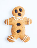 Snowman as Christmas cookie shape Royalty Free Stock Image