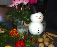 Snowman as Decoration Stock Images