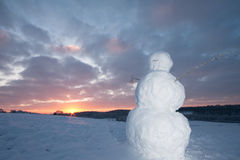 Free Snowman At Dawn Royalty Free Stock Photos - 12448668