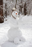 Snowman with baby snowman royalty free stock photo