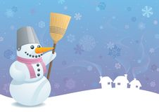 Snowman Background Stock Images