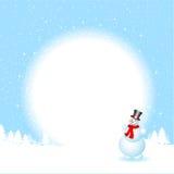 Snowman background Stock Photo