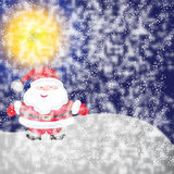 Snowman on background. Snowman of frame on christmas night background Royalty Free Stock Image