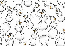 Snowman background pattern Stock Photography