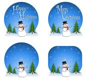 Snowman Backgrounds Royalty Free Stock Images