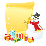 Snowman banner Stock Image