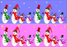 Snowman banners vector illustration
