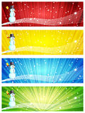 Snowman banners Stock Photography