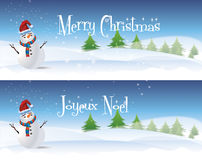 Snowman Banners Stock Image