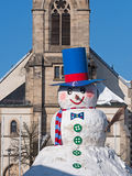 Snowman in Bavaria Royalty Free Stock Image