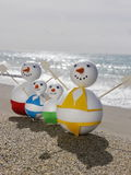 Snowman beach vacation Royalty Free Stock Image
