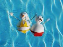 Snowman beach vacation Royalty Free Stock Photo