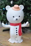 Snowman Bear. This picture is white Snowman Bear Stock Photography