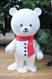 Snowman Bear. This picture is white Snowman Bear Stock Photos