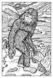 Snowman, Bigfoot or Yeti Royalty Free Stock Images
