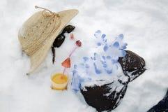 Snowman in Bikini Royalty Free Stock Photos