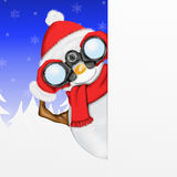 Snowman with binoculars Stock Images