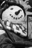 Snowman ~black and white~. Photo of a snowman figure royalty free stock photos