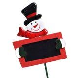 Snowman blackboard Stock Image