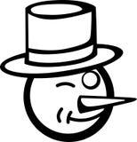 Snowman blinking vector illustration Royalty Free Stock Photo
