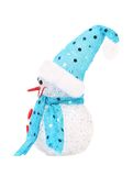 Snowman in a blue hat and scarf. Stock Image