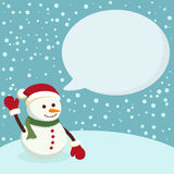 Snowman Blue Notes Vector Royalty Free Stock Images