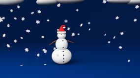 Snowman blue studio Stock Images