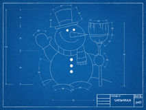 Snowman - Blueprint Stock Photo