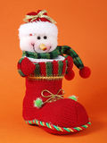 Snowman and boot Stock Photography