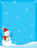 Snowman border /background Stock Photo