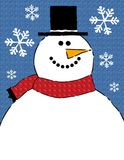 Snowman Border Background Stock Image