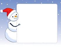 Snowman border / frame stock photography
