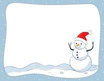 Snowman border / frame Stock Images