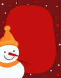Snowman border / frame royalty free stock image